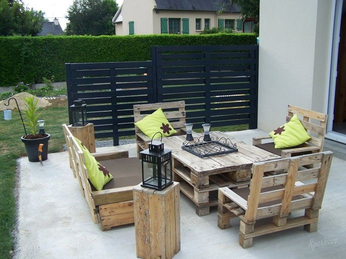 Мебель для сада из поддонов своими руками